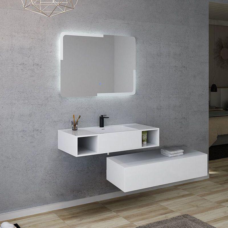 Meuble salle de bain ALESIA 1000 Blanc