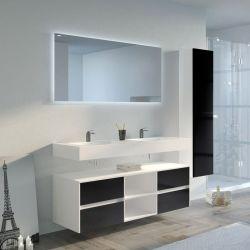 Meuble salle de bain VISENZA 1400 Noir