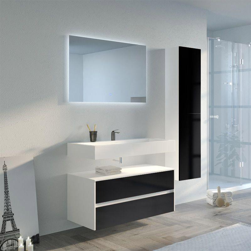 Meuble salle de bain VISENZA 1000 Noir