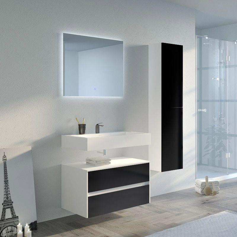 Meuble salle de bain VISENZA 800 Noir