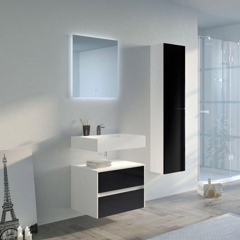 Meuble salle de bain VISENZA 600 Noir