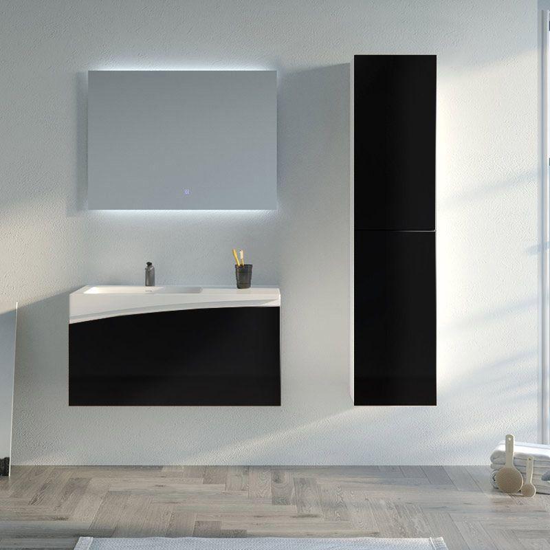Meuble salle de bain CAGLIARI 900 Noir