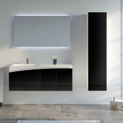 Meuble salle de bain CAGLIARI 1200 Noir
