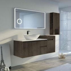 Meuble salle de bain AVEZZANO 1400 Chêne grisé