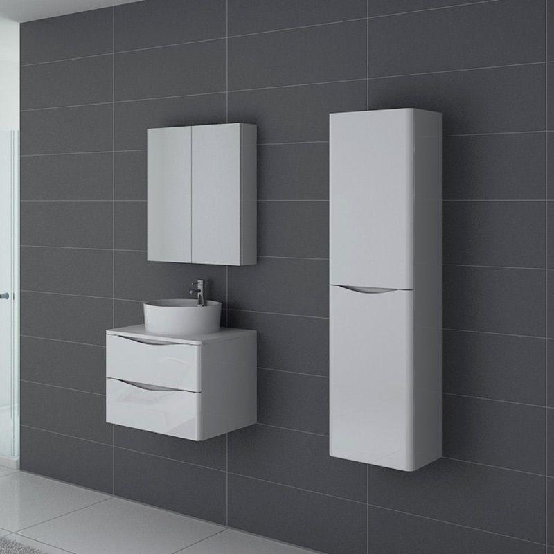 Meuble salle de bain Terranova 600 Blanc
