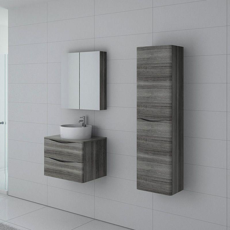 Meuble salle de bain Terranova 600 Chêne gris