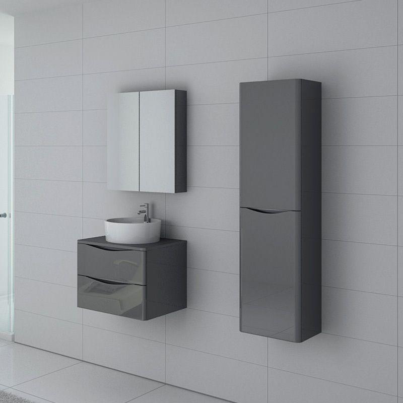 Meuble salle de bain Terranova 600 Gris taupe