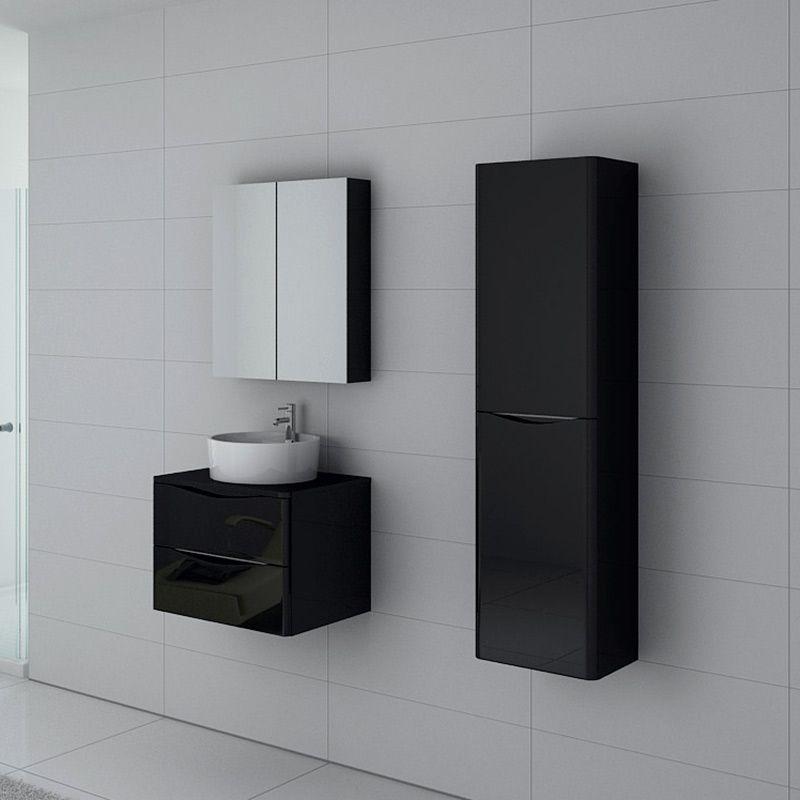 Meuble salle de bain Terranova 600 Noir