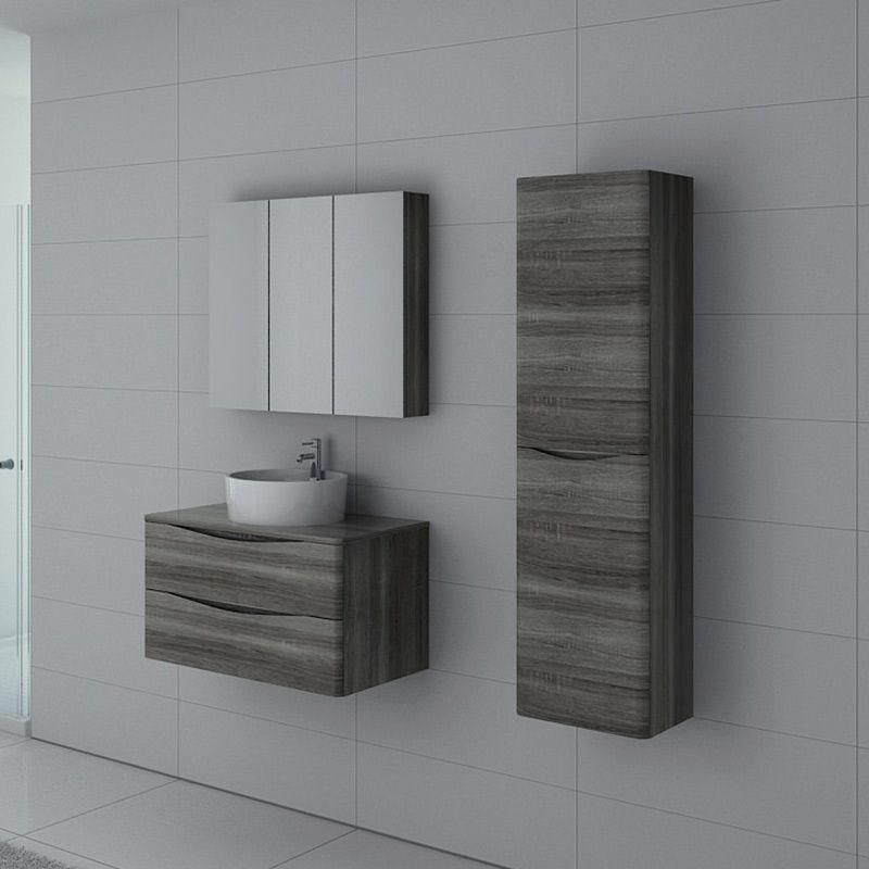 Meuble salle de bain Terranova 800 Chêne gris