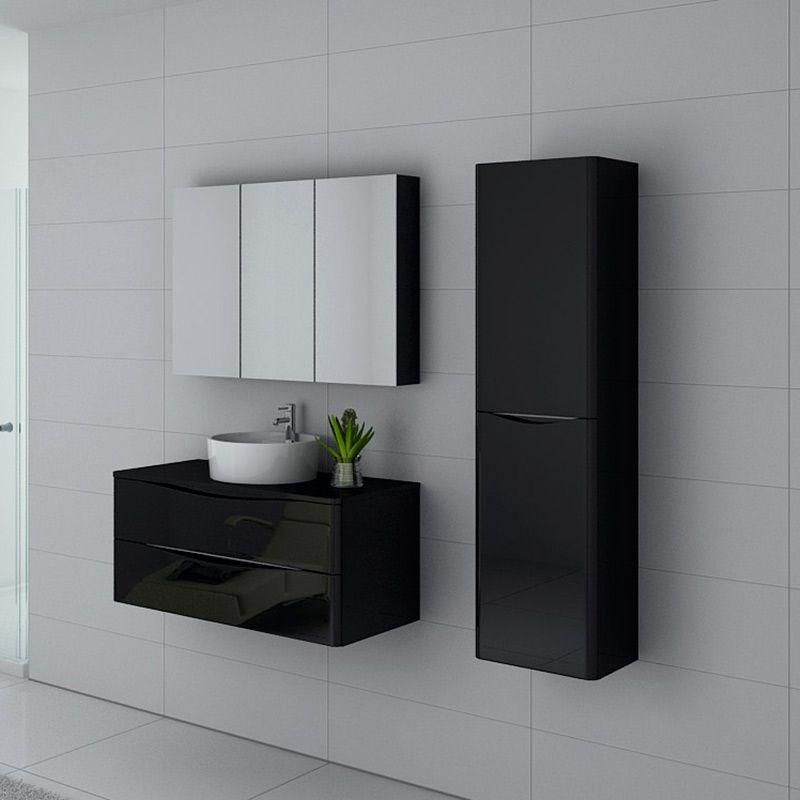 Meuble salle de bain Terranova 1000 Noir