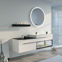Meuble salle de bain Eleganzza 1800 Blanc