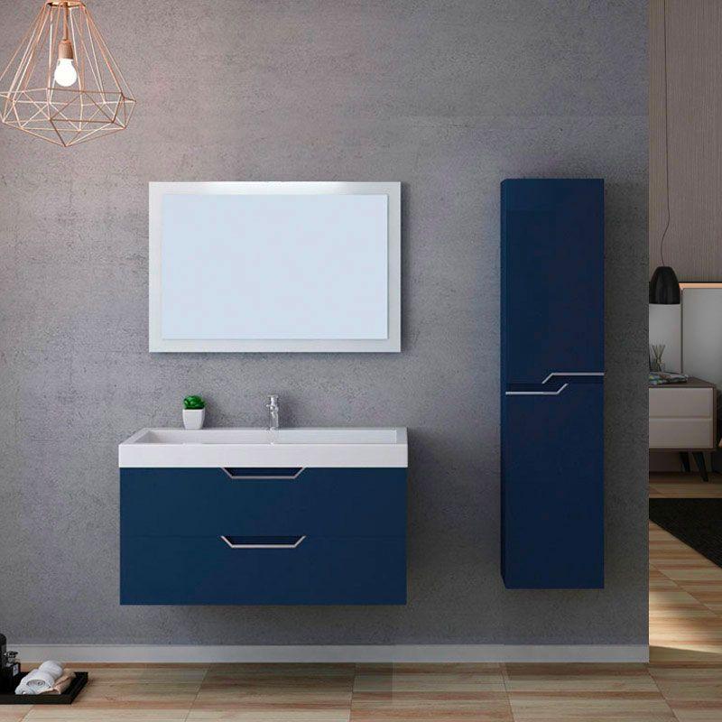 Meuble salle de bain CALABRO 1000 Bleu saphir