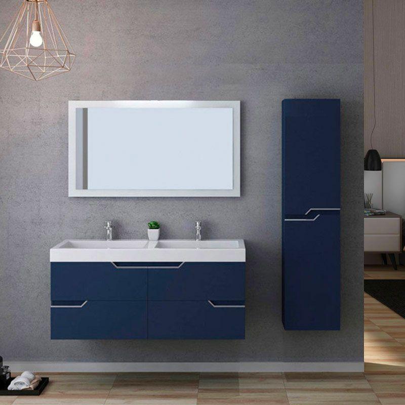 Meuble salle de bain CALABRO 1200 Bleu saphir