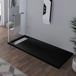 Receveur en gel coat ALICANTE Noir 160x80cm