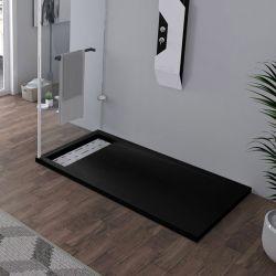 Receveur en gel coat ALICANTE Noir 140 x 80 cm