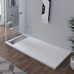 Receveur en gel coat ALICANTE Blanc 160x90cm
