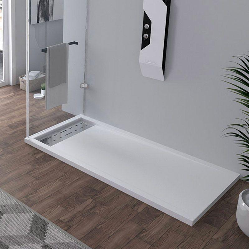 Receveur en gel coat ALICANTE Blanc 160x80cm