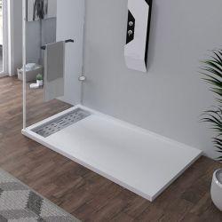 Receveur en gel coat ALICANTE Blanc 140 x 90cm