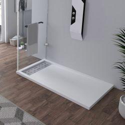Receveur en gel coat ALICANTE Blanc 140 x 80 cm