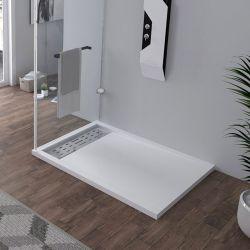 Receveur en gel coat ALICANTE Blanc 120x90 cm