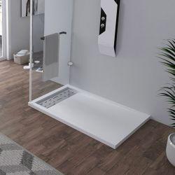 Receveur en gel coat ALICANTE Blanc 120x80 cm