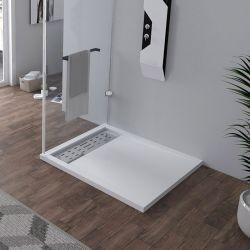 Receveur en gel coat ALICANTE Blanc 100x90 cm