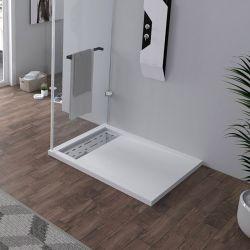 Receveur en gel coat ALICANTE Blanc 100x80 cm