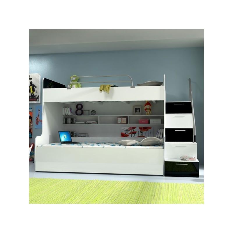 lit mezzanine enfant blanc maison design. Black Bedroom Furniture Sets. Home Design Ideas