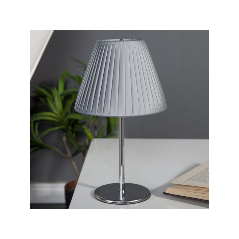 Lampe poser grise clairet for Lampe a poser grise