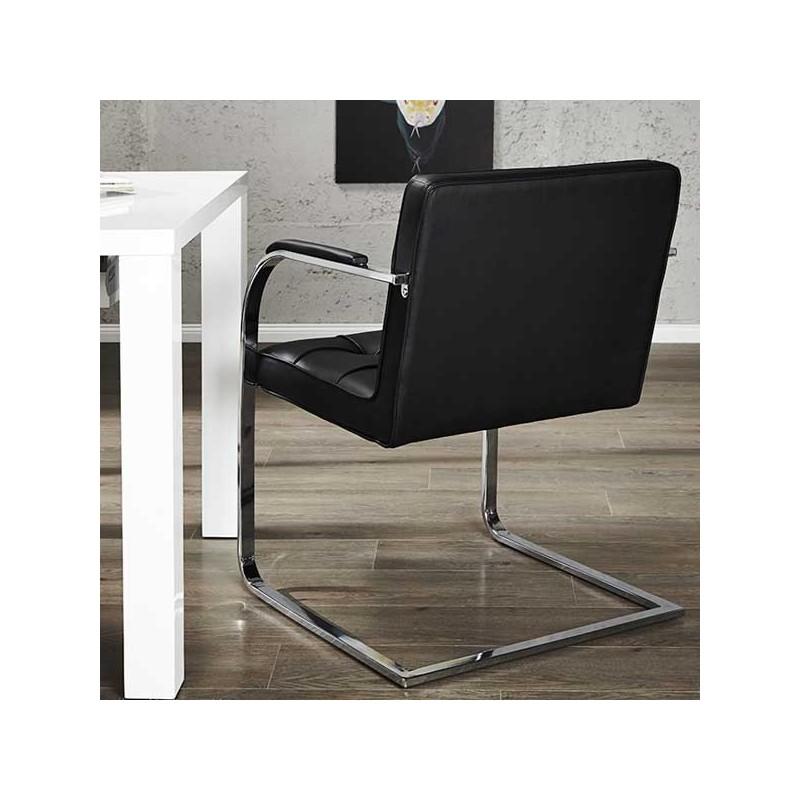 chaise capitonn e advocat noir. Black Bedroom Furniture Sets. Home Design Ideas