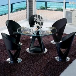 KRYSTAL Ensemble table et chaises