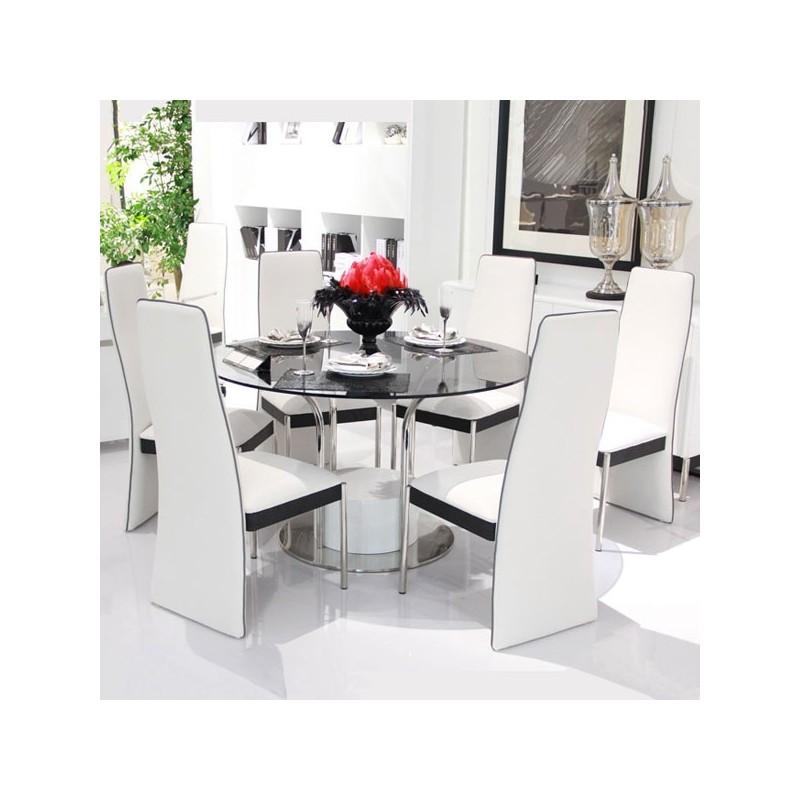 Ensemble de salle à manger blanc, ensemble de table et chaises blanc ...