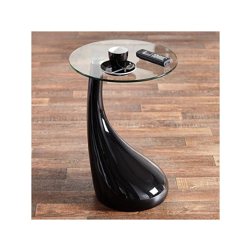 table d 39 appoint lounge tear noir. Black Bedroom Furniture Sets. Home Design Ideas