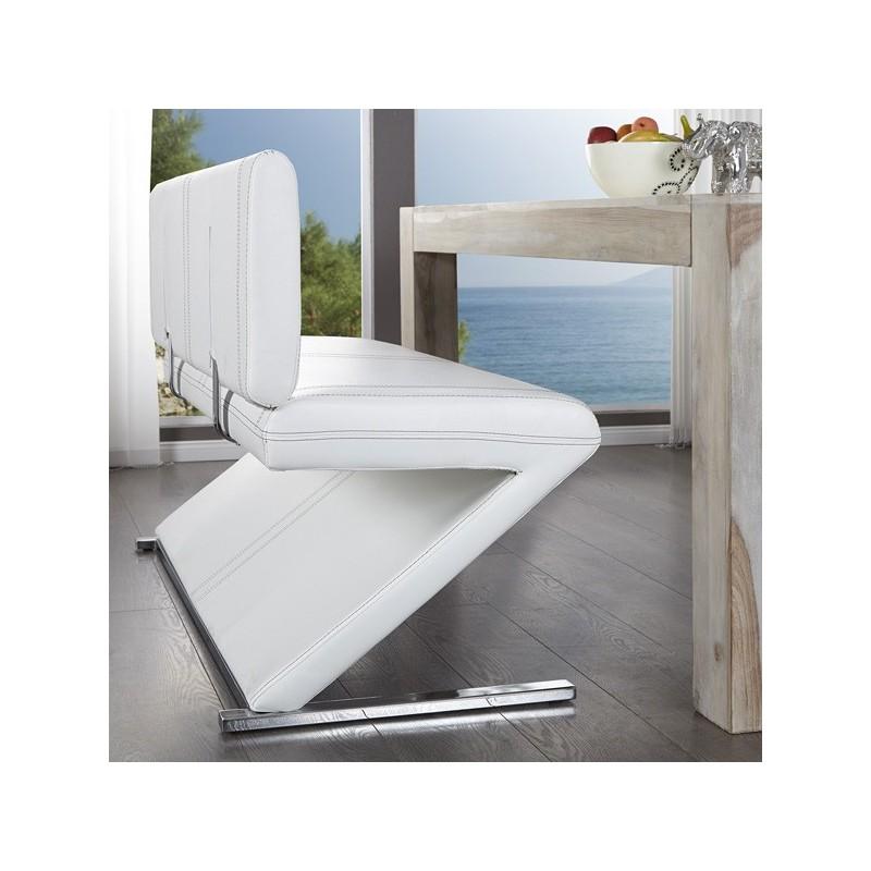 Banquette bank air blanc for Banquette salle de bain