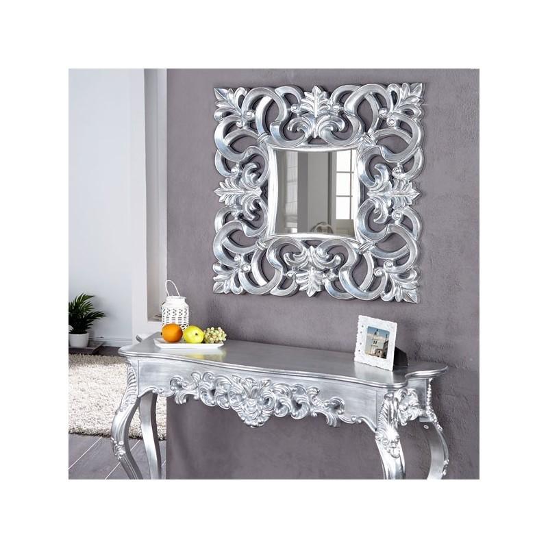 miroir mural venice argent. Black Bedroom Furniture Sets. Home Design Ideas