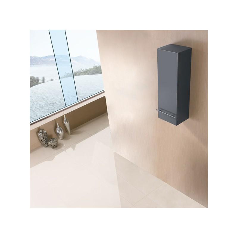 Colonne de rangement de salle de bain en bois massif ref - Rangement salle de bain bois ...
