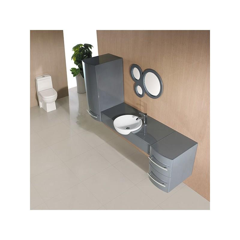 Meuble salle de bain de luxe en bois massif ref sdg971gt - Meuble salle de bain de luxe ...