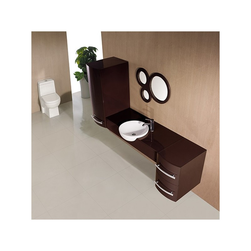 meuble salle de bain de luxe en bois massif ref sdg971c. Black Bedroom Furniture Sets. Home Design Ideas