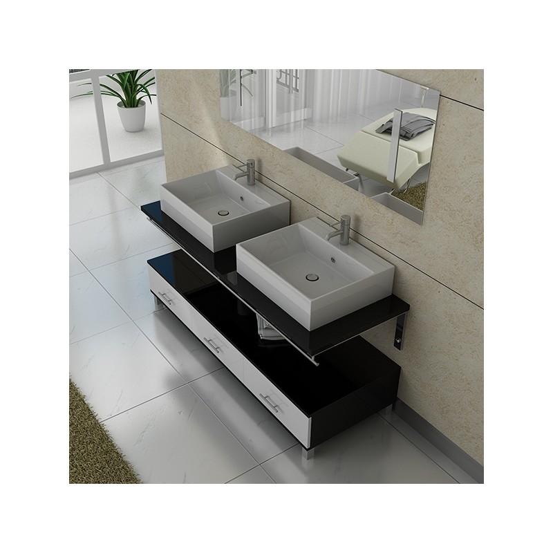 Meuble salle de bain ref dis985nb - Image salle de bain noir et blanc ...