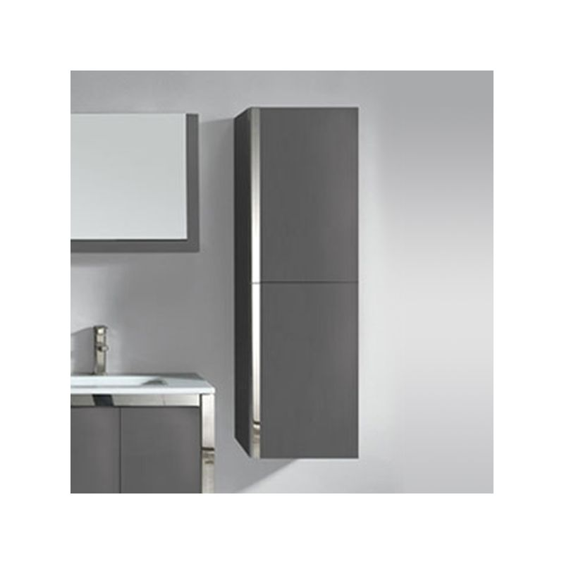 colonne de rangement de salle de bain en mdf finition gloss ref colg025gs coloris gris souris. Black Bedroom Furniture Sets. Home Design Ideas