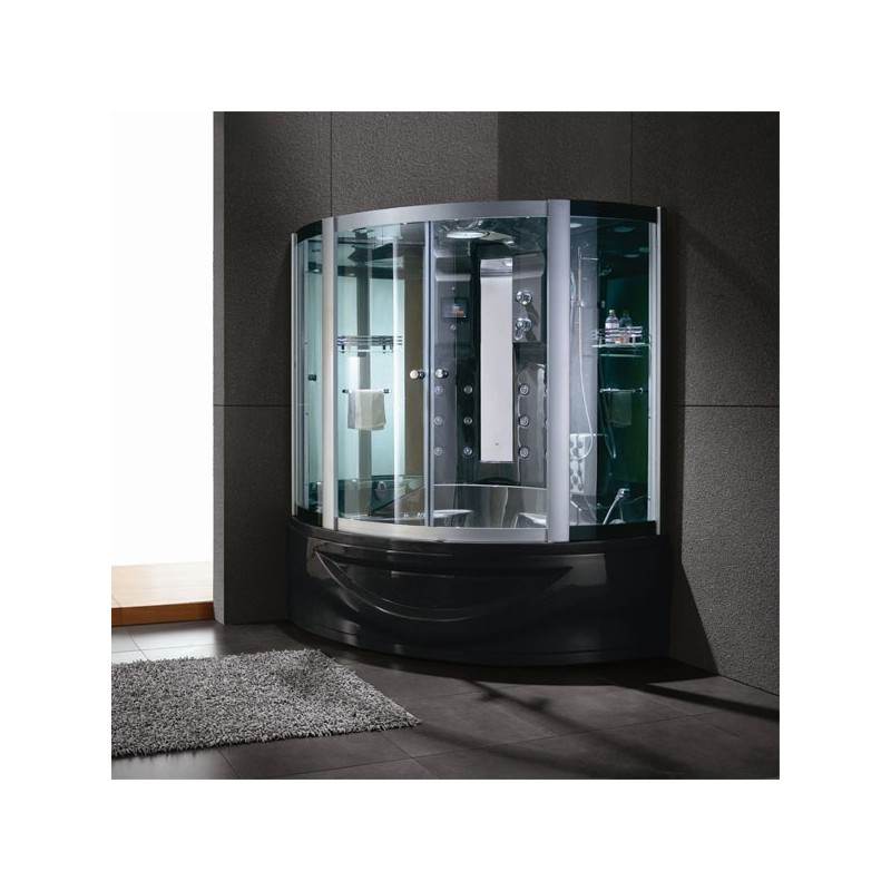Grand combiné douche bain 2 places Capri Black