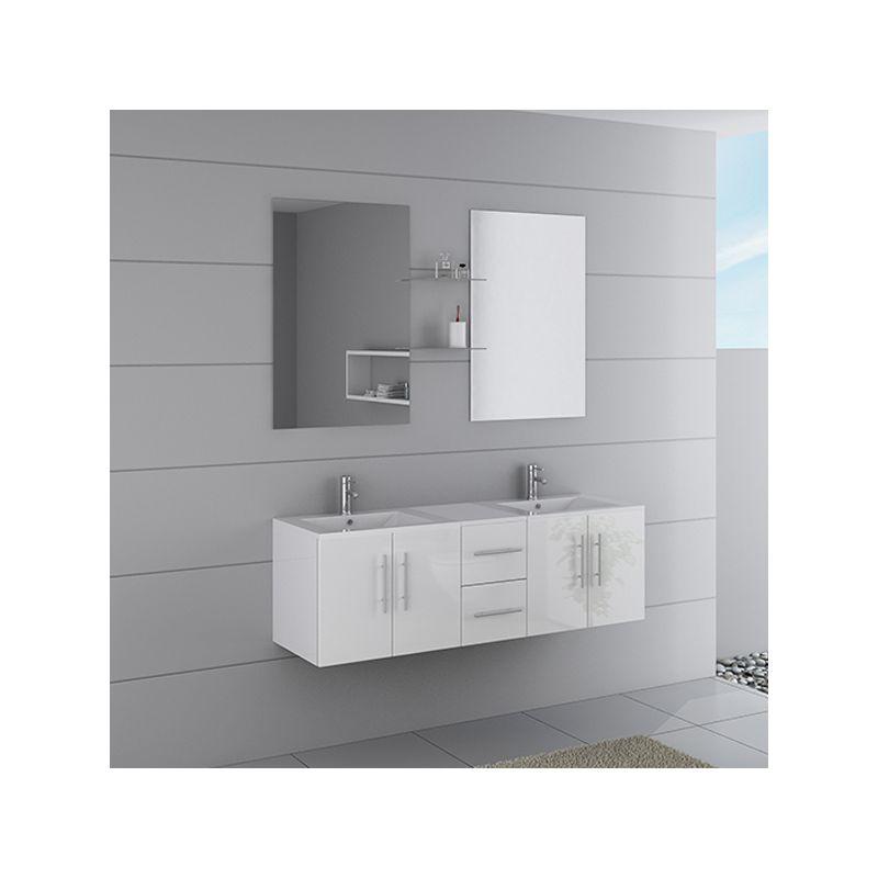 Meuble double vasque ref dis1500b - Meuble salle de bain online ...