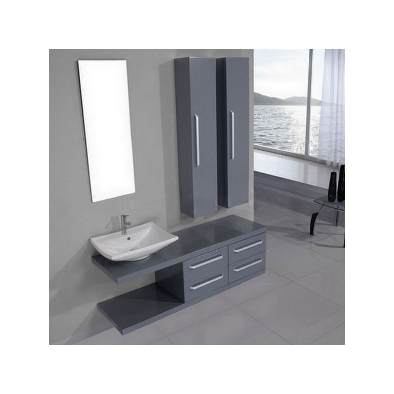 sd9280gt meuble salle de bain gris taupe salledebain online. Black Bedroom Furniture Sets. Home Design Ideas