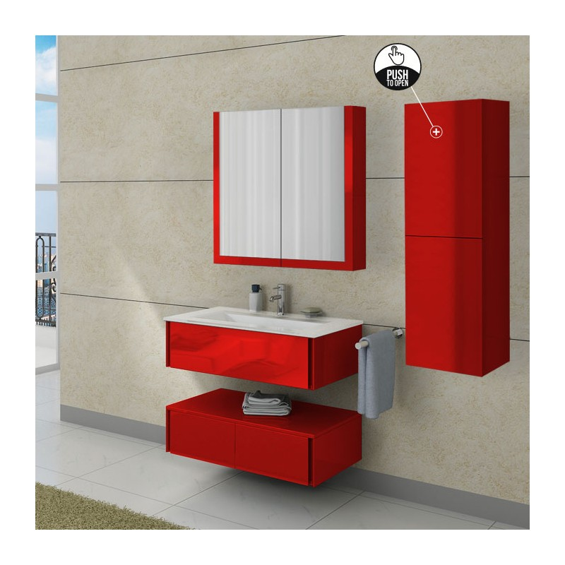 meuble salle de bain simple vasque rouge coquelicot dis787. Black Bedroom Furniture Sets. Home Design Ideas