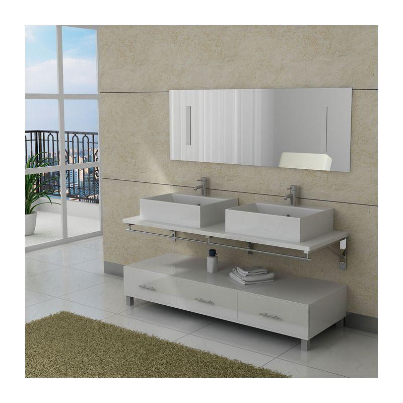 Meuble salle de bain blanc moderne for Meuble salle de bain online