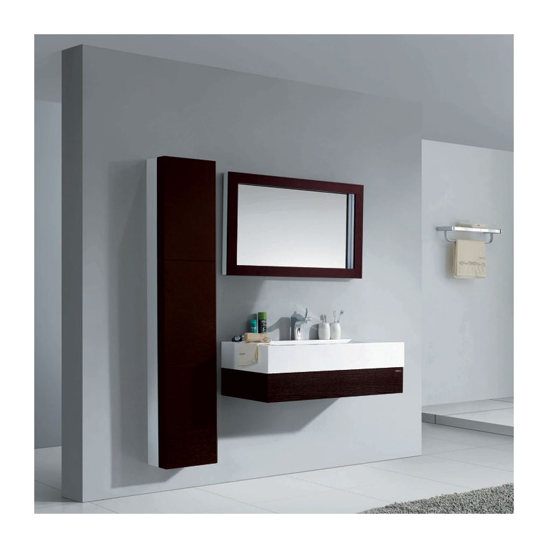 meuble salle de bain en mdf pr mont r f sdzh 6022 coloris weng. Black Bedroom Furniture Sets. Home Design Ideas