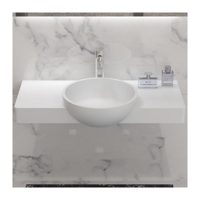 plan en fonte min rale avec vasque ronde ien d bord tr s design. Black Bedroom Furniture Sets. Home Design Ideas