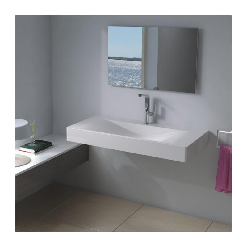 plan de toilette suspendu rectangulaire. Black Bedroom Furniture Sets. Home Design Ideas