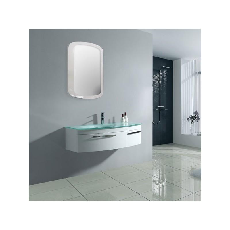 Meuble salle de bain sd022 1050a coloris blanc salledebain online - Salle de bain online ...
