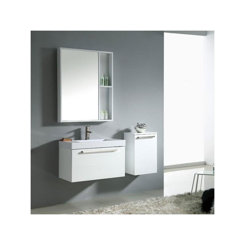 Meuble salle de bain sd024 750 coloris blanc salledebain online - Petit meuble salle de bain blanc ...